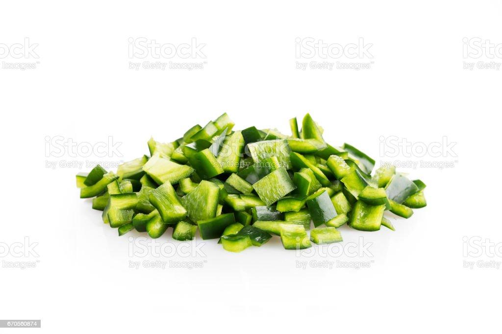 Poblano Peppers on White stock photo