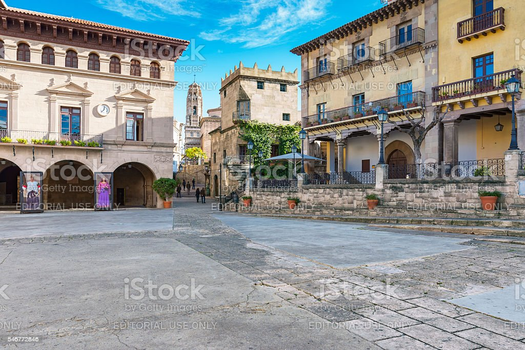 Poble Espanyol in Barcelona, Spain stock photo