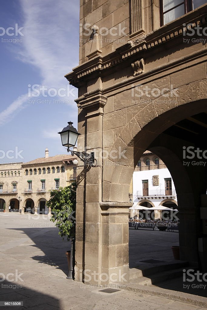 Poble Espanyol in Barcelona, Spain royalty-free stock photo