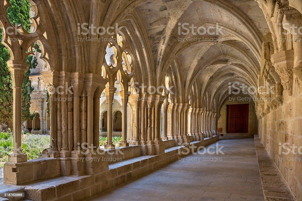 Poblet Monastery - Catalonia - Spain stock photo