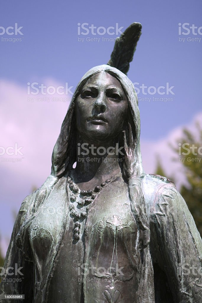 pocahontas memorial in jamestown stock photo