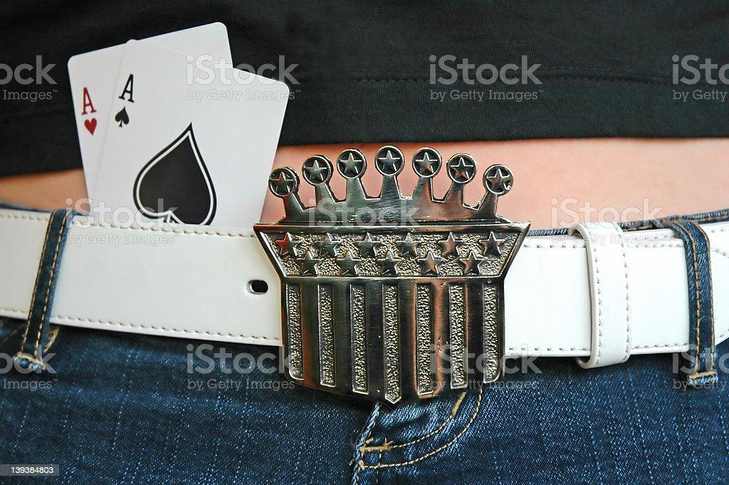 Pocket Aces 2 royalty-free stock photo