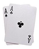 Pocket Aces Isolated on white background
