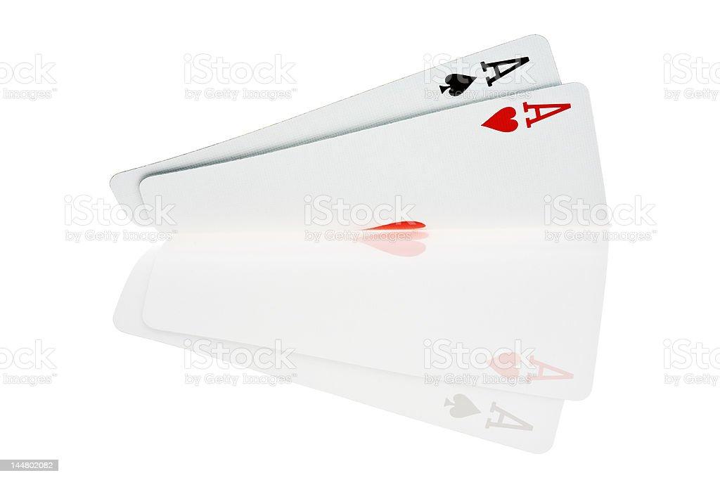 Pocket Aces royalty-free stock photo