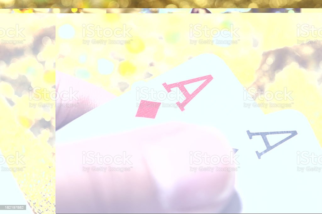 Pocket Aces royalty-free stock photo