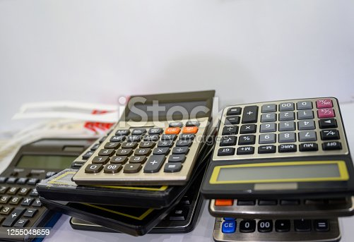 Stacked calculators, one on top of others, Nikon Z7
