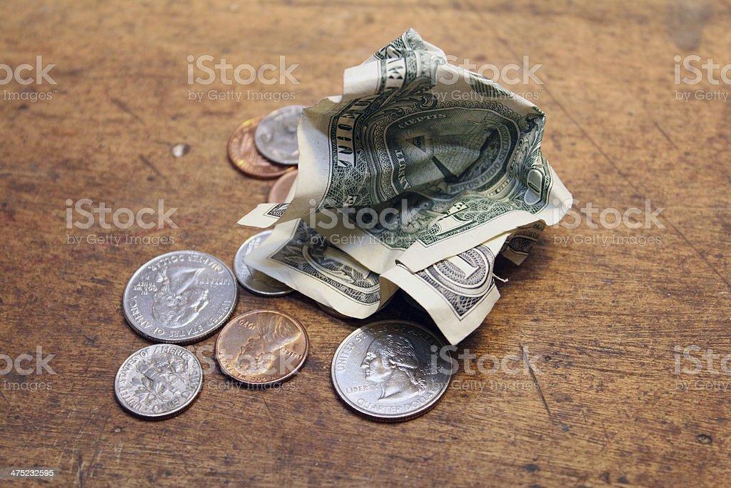 Pocket change stock photo