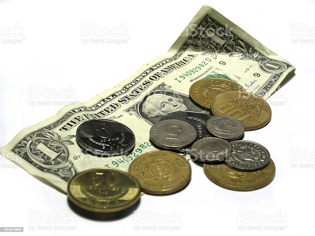 Pocket change royalty-free stock photo
