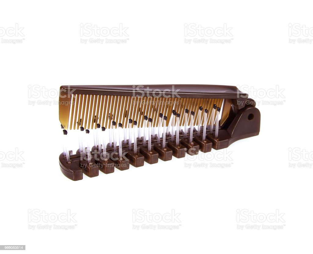 Pocket comb on isolated white background - Royalty-free Barber Stock Photo