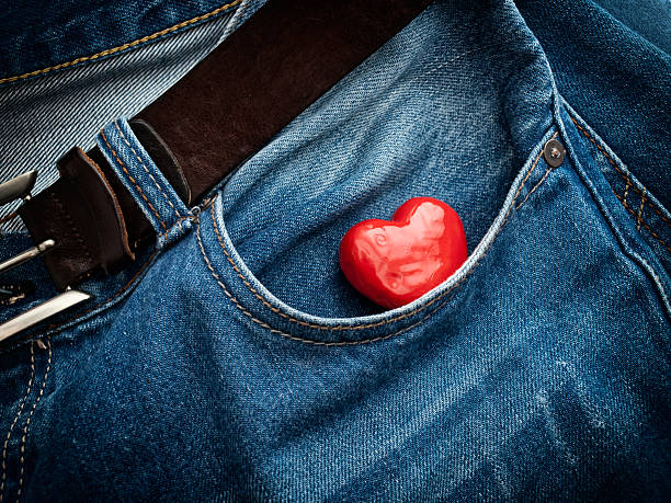 Pocket heart stock photo