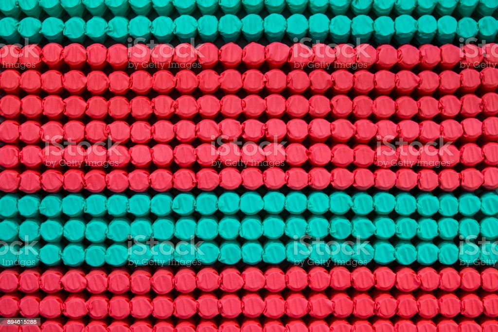 Pocket independent spring sewn in color span-bond. Inside mattress texture stock photo