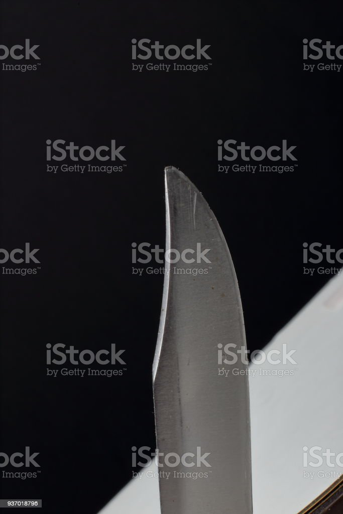 pocket knife blade stock photo