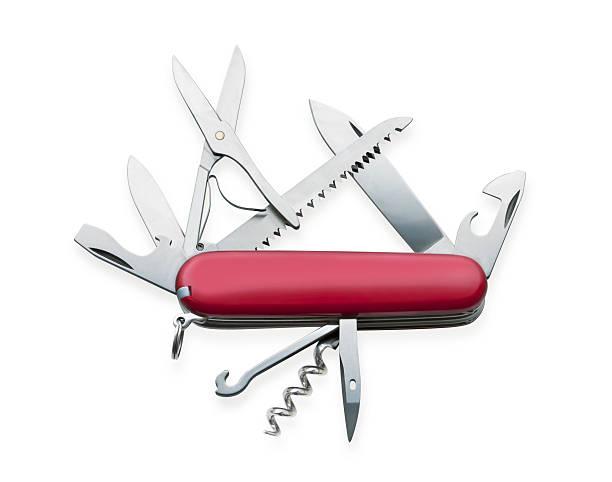 Pocket knife stock photo
