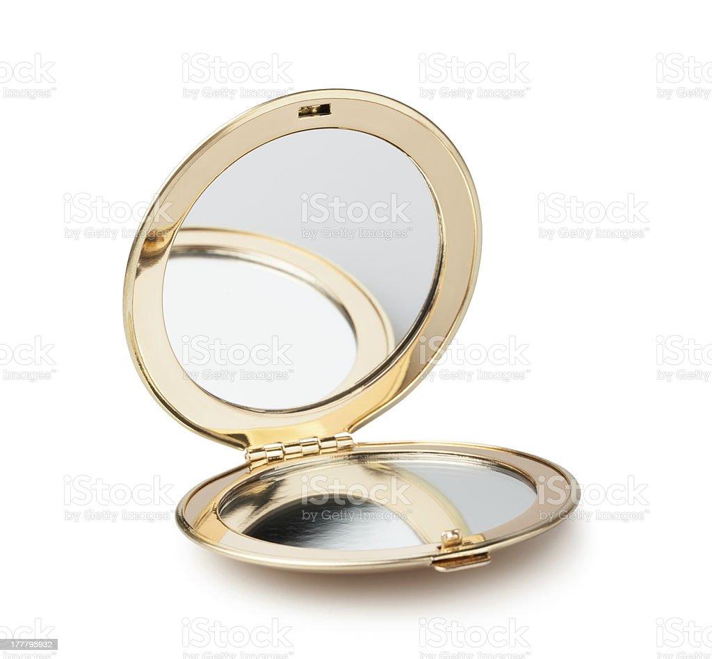 pocket mirror stock photo