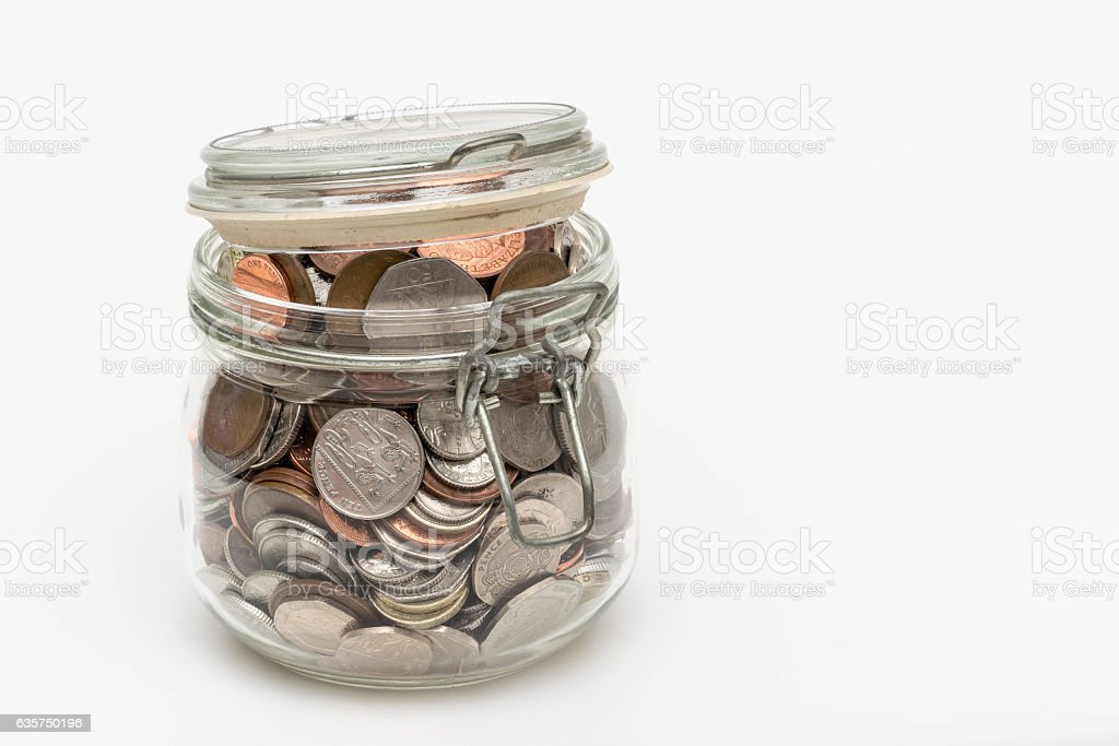 Pocket Money Jar stock photo