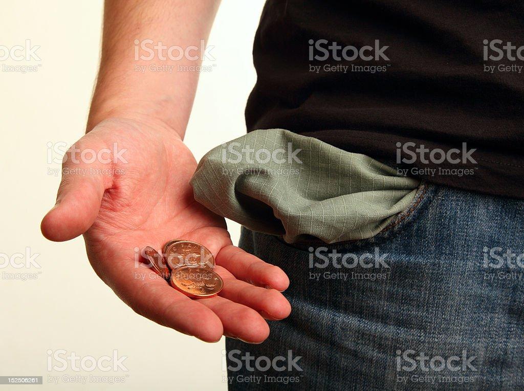 Pocket Money Left stock photo