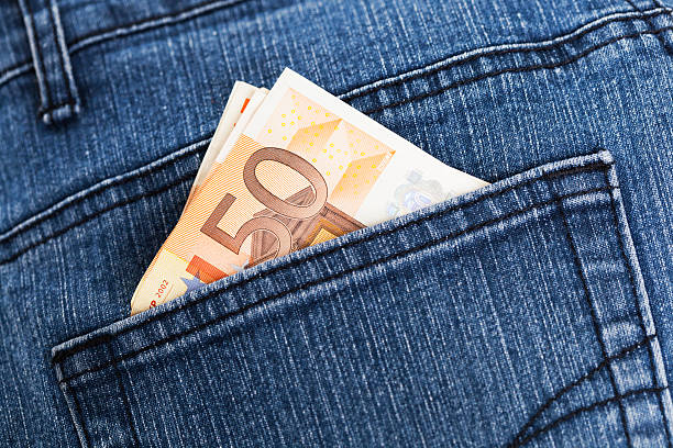 Pocket Money Pocket Money fifty euro banknote stock pictures, royalty-free photos & images