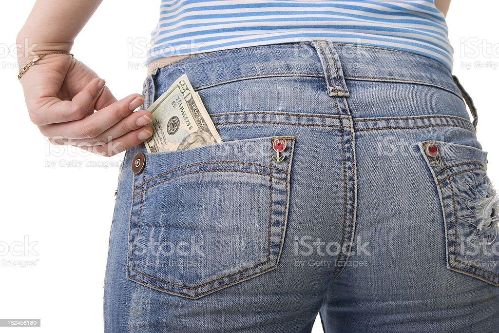 Dinero de bolsillo foto de stock libre de derechos