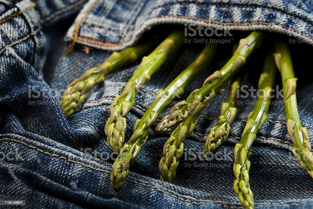 Pocket of Asparagus royalty-free stock photo