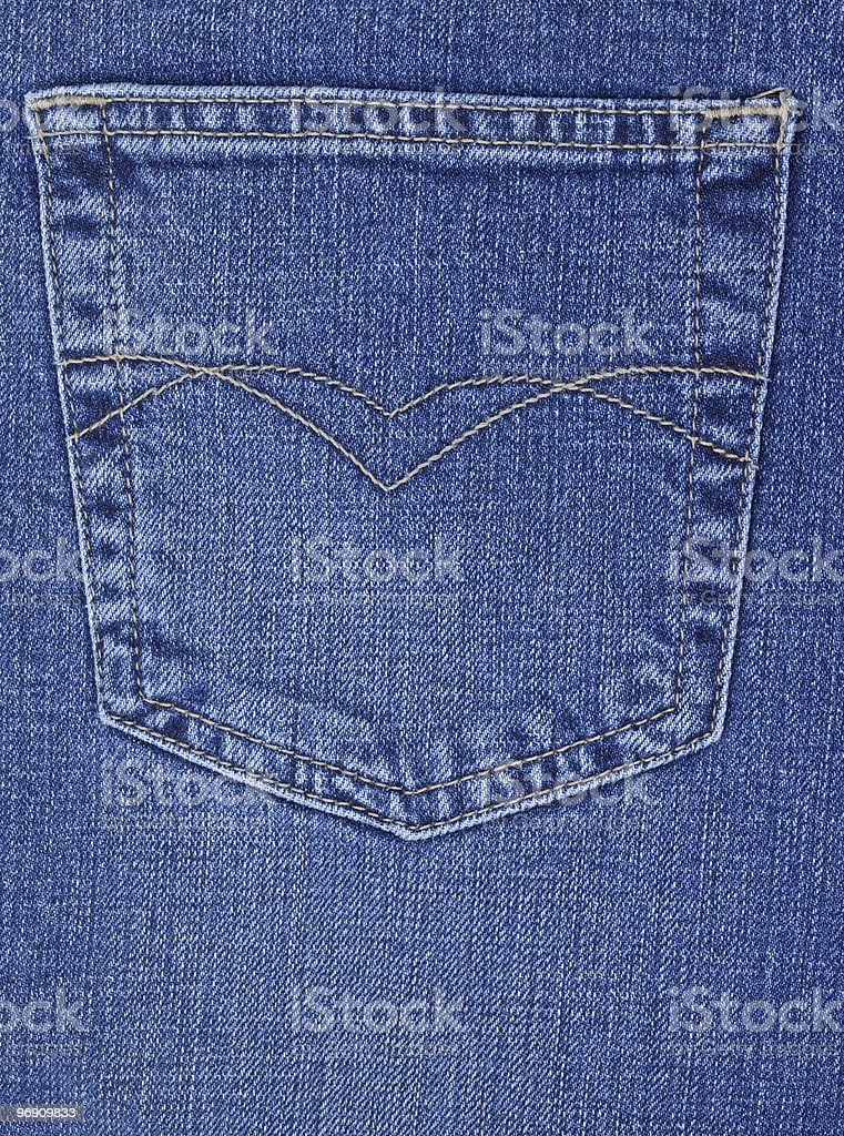 Pocket of jeans royalty-free stock photo