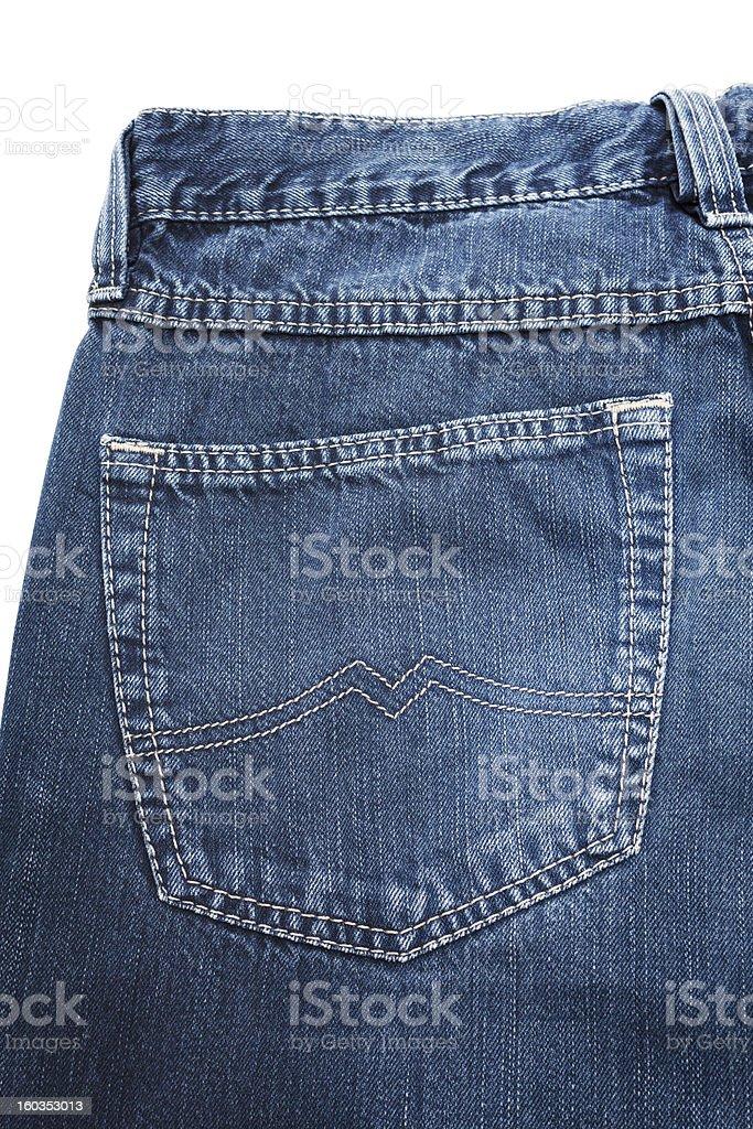 Pocket on jeans royalty-free stock photo