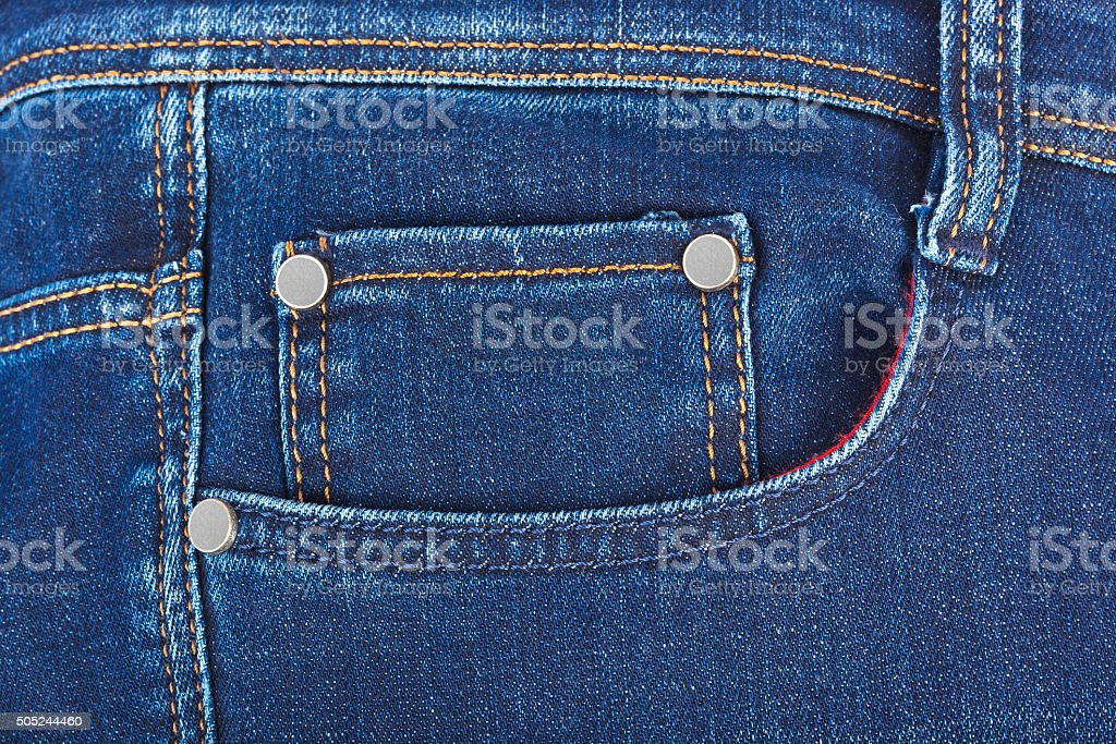 Pocket on jeans stock photo