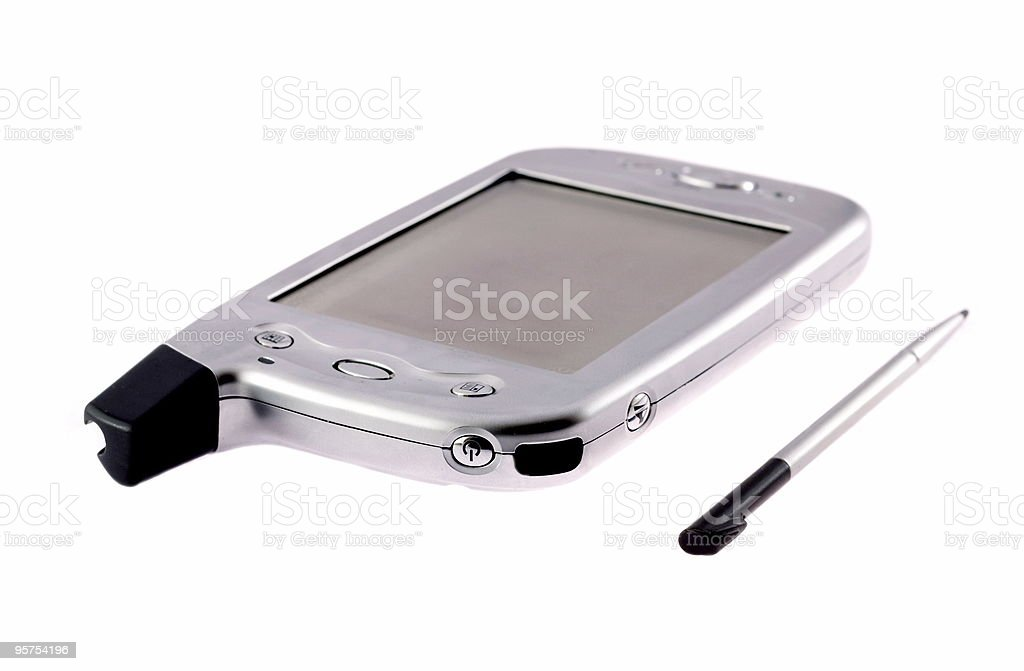 Pocket pc isolated on white royalty-free stock photo