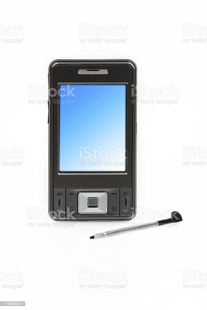 pocket pc stock photo