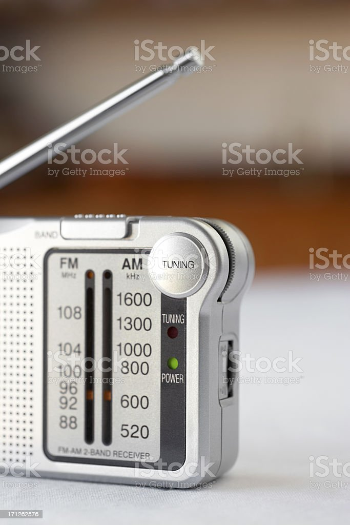 Pocket radio. stock photo