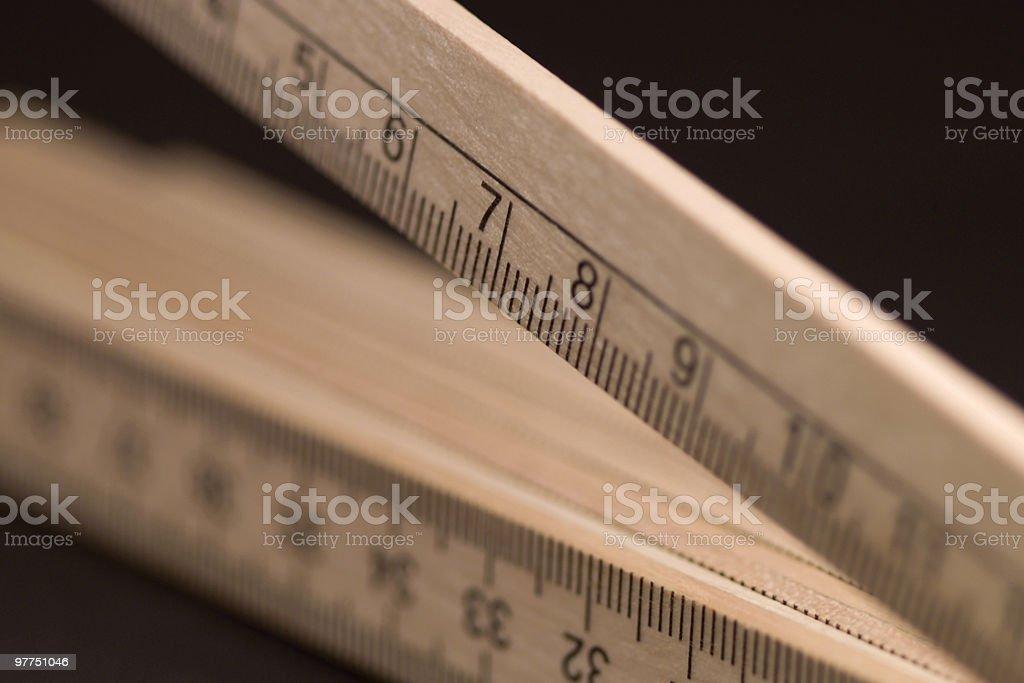 pocket ruler closeup stock photo