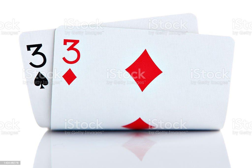 Pocket Threes stock photo
