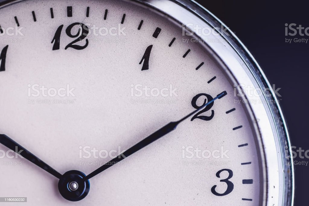 Old Pocket Watch like Time Passing Concept. Deadline, Running Out of...