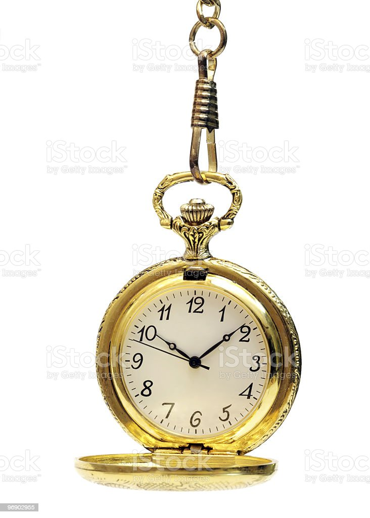 Pocket watch on white royalty-free stock photo