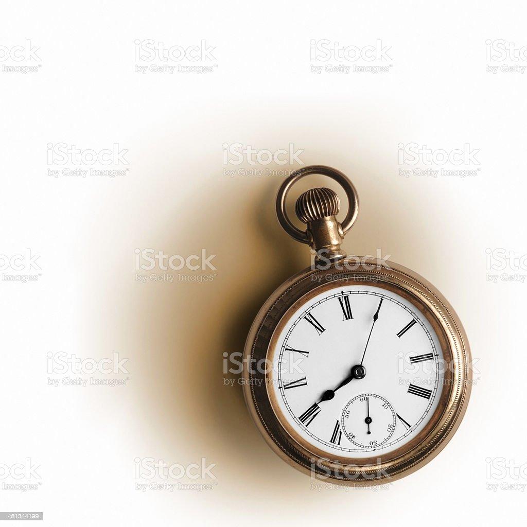 Pocket watch (Clip path) stock photo
