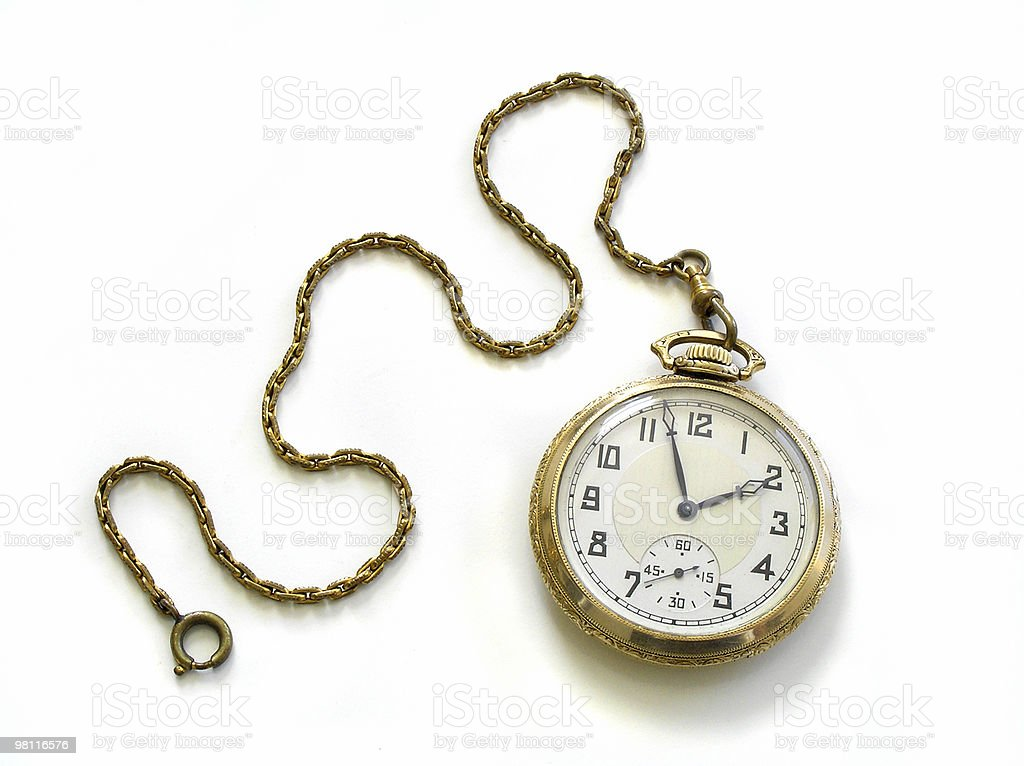 pocket watch with chain stock photo