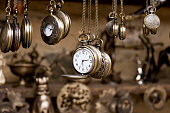 Retro styled image of old pocket watches