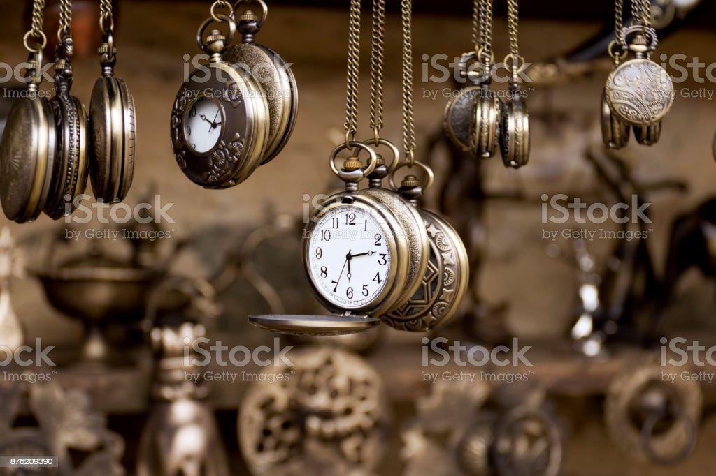 Pocket watches stock photo