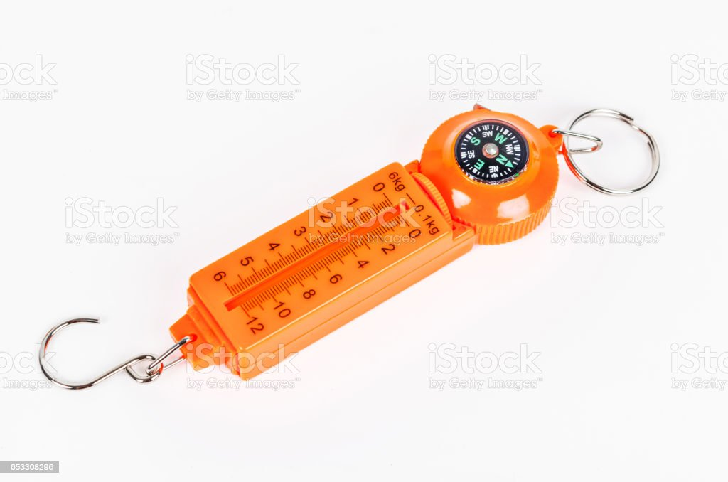 pocket weighing scale stock photo