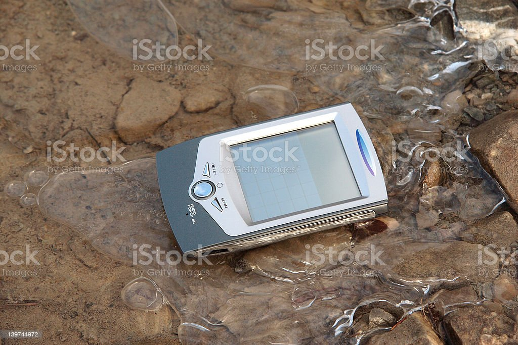 pocketbook on ice royalty-free stock photo
