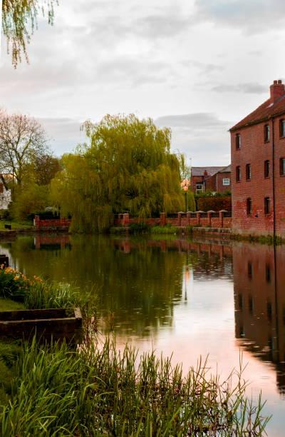Pocklington Canal Head stock photo