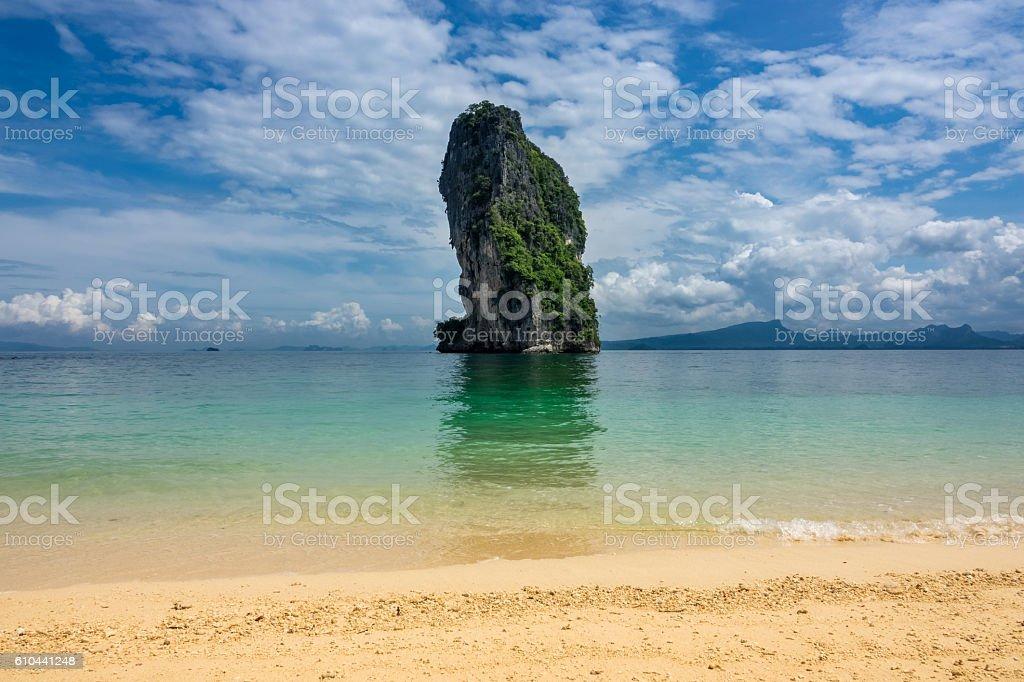 Poda Island at Krabi in Thailand stock photo