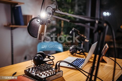 Photo of podcast studio
