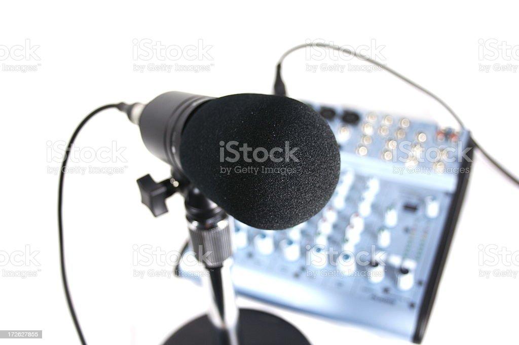 Podcast Studio royalty-free stock photo