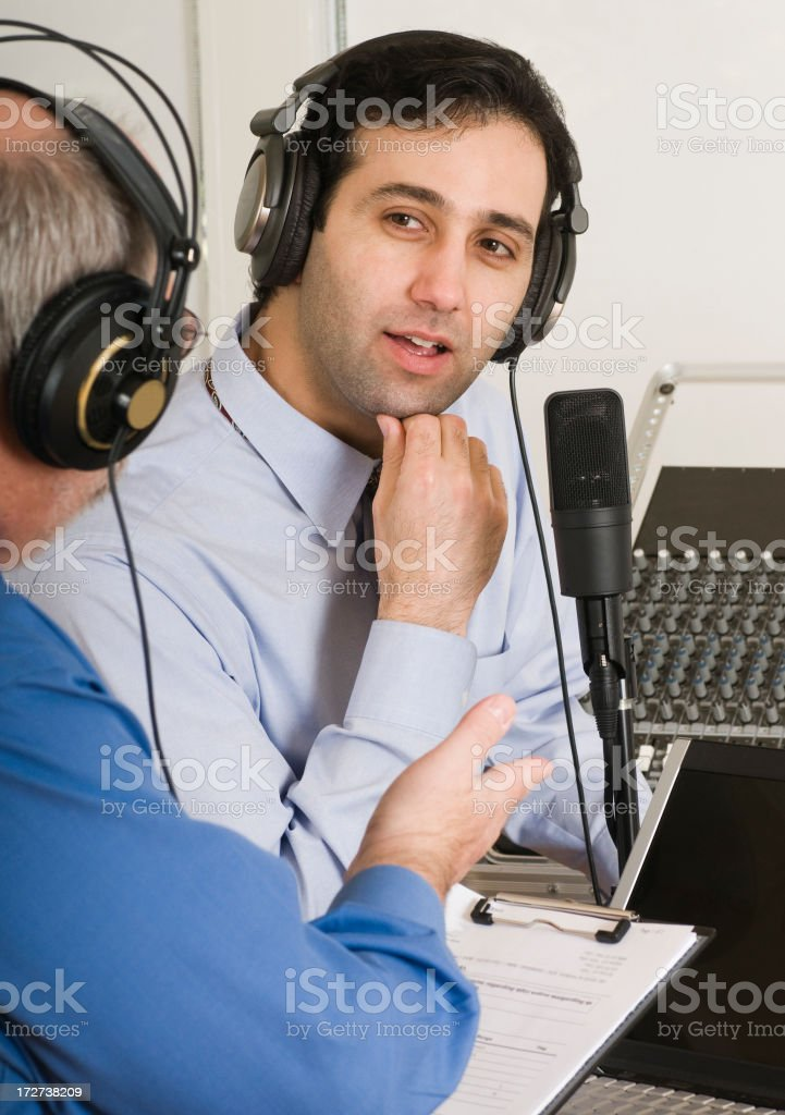 Podcasting Series - Interview royalty-free stock photo