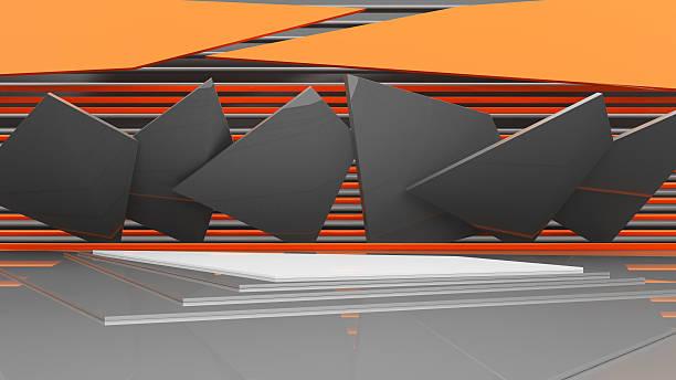 podium, 3D rendering stock photo