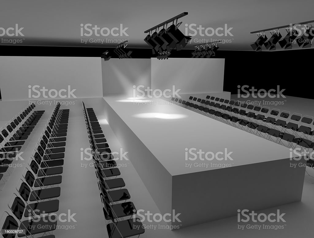 Podium and Textile Industry stock photo