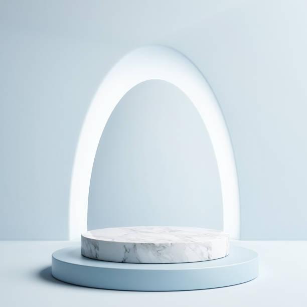 Podiumskonzept für Produkte, Pastellhintergrund – Foto
