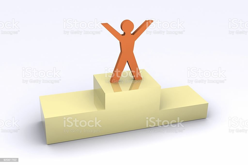 Podium Finish royalty-free stock photo