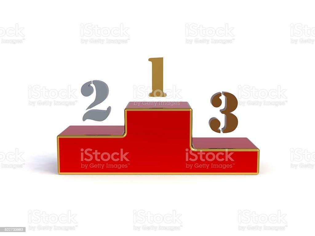 Podium for winner, 3d render stock photo