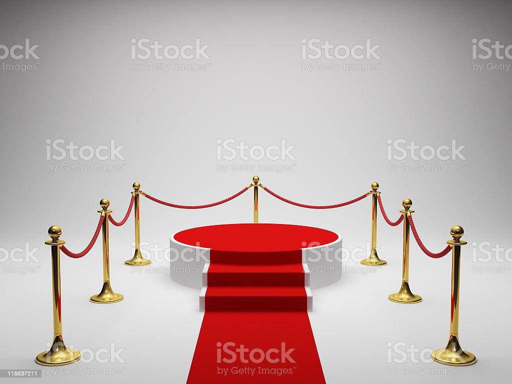 Podium for winner royalty-free stock photo
